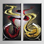 Maalattu Leisure Pysty,Moderni 2 paneeli Kanvas Hang-Painted öljymaalaus For Kodinsisustus