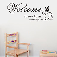 Üdvözöljük honlapunkon quote fali matricák zooyoo8181 dekoratív adesivo de Parede kivehető vinyl falimatrica