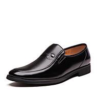 Masculino sapatos Courino Primavera Verão Outono Inverno Conforto Botas da Moda Oxfords Caminhada Tachas Para Casual Festas & Noite Preto