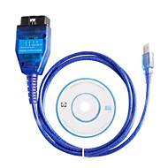 UBS KKL VAG + Feramenta OBD2 de Interface Compatível para Diagnóstico ECU de Fiat com Chip FT232RL Original
