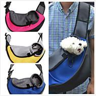 Кошка Собака Переезд и перевозные рюкзаки передняя Рюкзак Животные Корзины Компактность Дышащий Желтый Красный Зеленый Синий