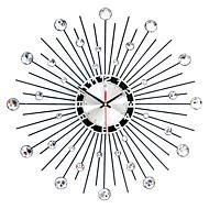 """Moderno/Contemporâneo Relógio de parede,Redonda Ferro 50 x 50 x 3(19.69"""" x 19.69"""" x 1.18"""") Interior Relógio"""