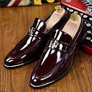 Masculino Mocassins e Slip-Ons Conforto Inovador Sapatos formais Couro Envernizado Primavera Verão Outono Inverno Casual Festas & Noite