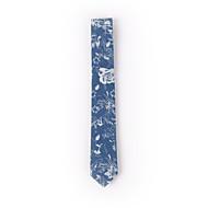 Blue Printed Denim Skinny Ties 6cm(2.3in)