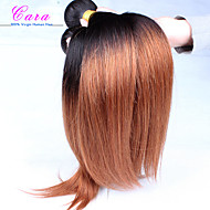 "10 ""-26"" proizvodi za kosu Malezijski djevica kosa ravno ombre ekstenzija dlaka dva tona 1b / 30 ravna 3 komada / puno"