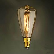 E14 40W st48 sárga lámpa Edison kis csavaros kupak retro csillár dekoratív izzók