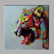 מצויר ביד בעלי חייםמודרני פנל אחד בד ציור שמן צבוע-Hang For קישוט הבית