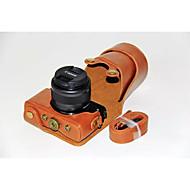 תיק נרתיק עור מצלמת dengpin® pu לכסות עם רצועת כתף עבור m10 EOS Canon 15-45 עדשה (צבעים שונים)