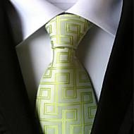 עניבה - דוגמא (ירוק , פוליאסטר)