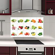 קיר מדבקות oilproof מטבח נשלף עם מדבקות אמנות בבית עמידים במים בסגנון ירקות ופירות