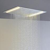 ruostumatonta terästä 304 110v ~ 220v vaihtovirta kylpyhuone sadesuihku pään energiansäästöön led-lamput