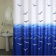 """Cortinas de Banheiro-Contemporânea- EMPoli / algodão-71""""W x 79""""H"""