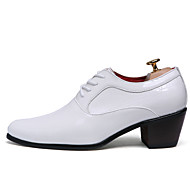 Masculino sapatos Couro Envernizado Primavera Verão Outono Inverno Conforto Oxfords Fru-Fru Para Casual Festas & Noite Branco Preto