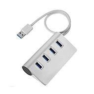 aluminiumlegering 4-poorts USB 3.0 hub