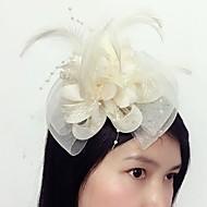 Women's Feather Tulle Net Headpiece-Wedding Special Occasion Fascinators 1 Piece