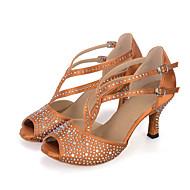 Személyre szabható-Kúpsarok-Szatén-Hastánc / Latin / Dzsessz / Tánccipők / Modern / Samba / Swing-cipők-Női