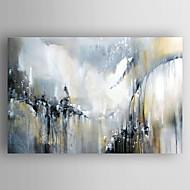 Maalattu Abstrakti / Abstraktit maisemakuvatModerni 1 paneeli Kanvas Hang-Painted öljymaalaus For Kodinsisustus