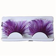 New Design Purple Eyelashes Individual False Eyelashes Lashes Accessories for Sexy Women Lady