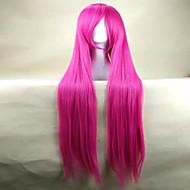 Γυναικείο Συνθετικές Περούκες πολύ μακριά Ίσια Ροζ κοστούμι περούκα Απόκριες Περούκα Καρναβάλι περούκα φορεσιά περούκες