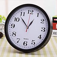 Rond Moderne/Contemporain Horloge murale,Niches Plastique 23*23*10 cm (9.06*9.06*3.94 inch)
