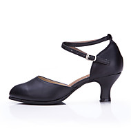 Kan ikke tilpasses Damer Ballet Latin Dansesko Moderne Salsa Samba Swingsko Læder Sneakers Hæle UdendørsFlæser Krøllede Folder Glimtende