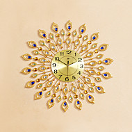Rond / Nouveauté Moderne/Contemporain Horloge murale,Fleurs / Botaniques / Animaux / Inspiré / Dessin animé Verre / Métal / Pierre72cm x