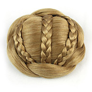 Kinky ouro encaracolado europa noiva cabelo humano sem tampa perucas chignons SP-189 1011