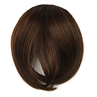 perruque brune 7cm couleur à haute température bangs fils obliques 2/30