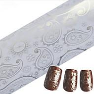 1kpl 100cmx4cm glitter kynsien folio tarra kaunis pitsi kukka lehtiä sulka kuva kynsien koristeet DIY kauneutta stzxk16-20