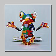 מצויר ביד מופשט בעלי חיים Fantasy מרובע,מודרני פנל אחד בד ציור שמן צבוע-Hang For קישוט הבית