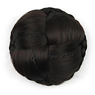 excêntricas Enrolado Preto europa noiva de cabelo humano sem tampa perucas chignons g660232-l 2/33