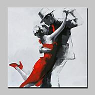 Ручная роспись Люди Квадратная,Modern 1 панель Холст Hang-роспись маслом For Украшение дома