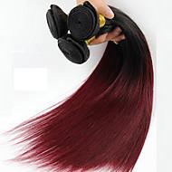 1 komada ravne ljudske kose isprepliće tekstura brazilske ljudske kose isprepletene ravno