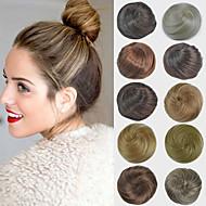 bridal updo chignon bun extensões de cabelo retas sintéticos para as mulheres negras mais cores