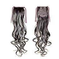 """22 """"(55 cm) 100g longos encaracolados onda sl rabos de cavalo fita # 6 grampo em extensões do cabelo rabo de cavalo acessórios peruca"""