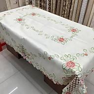 Suorakulma Kukka Patterned Table Cloths , Polyesteri materiaali Taulukko Dceoration