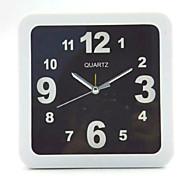 四角と丸と黒と白のシンプルな目覚まし時計生徒のデスクトップテーブルクロック(カラーパターンはランダムです)