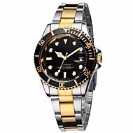 Pánské Hodinky k šatům Módní hodinky Náramkové hodinky Křemenný Kalendář Barevná Nerez Kapela Retro Cool Běžné nošení Luxusní Stříbro