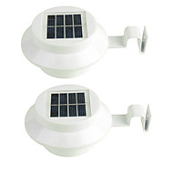 2 stuks 3LED zonne-licht wateproof tuindecoratie lichtsensor zonne-energie paneel lamp gemonteerd outdoor hek weg muur
