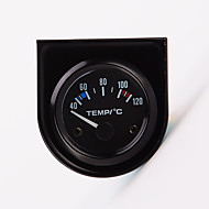 "2 ""Miernik uniwersalny wskaźnik temp samochodu temperatura wody 52mm 12v 40-120 białe LED"