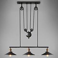 Riipus valot ,  Vintage Maalaus Ominaisuus for LED Minityyli Metalli Living Room Makuuhuone Ruokailuhuone Työhuone/toimisto