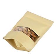 sacos de papel kraft ponto de arroz nozes grãos de painço seca sacos de fruta um pacote de dez janelas