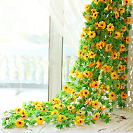 240CM 26Head/Branch Silk Sunflower Flower Rattan Wall Hanging  Artificial Flower