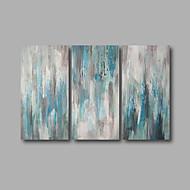 Kézzel festett Absztrakt / Landscape Festmények,Modern Három elem Vászon Hang festett olajfestmény For lakberendezési