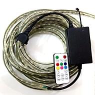4m / 1pcs eu plugconnect ir 19key בקר 220-240V הוביל נורת RGB RGB גן אור הלהקה מנורת חגורת עמיד למים 5050