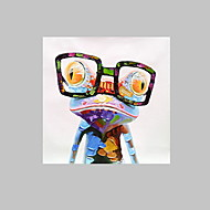 Cartoon Canvas printed Pop Animal Wall Art prints picture  Happy Frog with framed