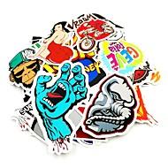 ziqiao 100 pcs / pack de música aleatória estojo de guitarra skate filme de vinil viagens etiqueta do carro decalque etiquetas bonitos