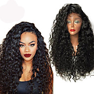 Top Quality High 180% Density Natural Black Wig Heat Resistant Synthetic Hair Wig Curly Wigs Lace Front Wigs