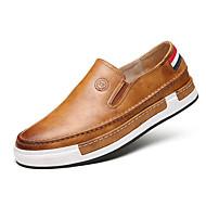 Miehet kengät Tekonahka Kevät Syksy Talvi Comfort Mokkasiinit Kävely Käyttötarkoitus Kausaliteetti Musta Harmaa Keltainen Ruskea