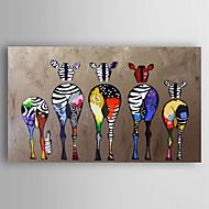 Håndmalte Dyr Vannrett,Moderne Et Panel Lerret Hang malte oljemaleri For Hjem Dekor